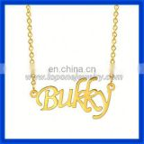Hot new product for 2015 alphabet personalized 14k gold cheap brand name jewelry