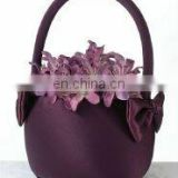 wedding favor Plum Satin Flower Basket