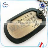 high quality America soldier pvc name tag keychain