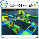 Inflatable pvc water floating platform with jumping bag