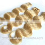 Honey Blonde Peruvian Hair Body Wave Hair Weaving