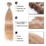 fast shipping blonde silky human hair weave 10-26 inch in stock