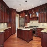 Wooden kitchen cabinet supplied by China kitchen cabinet factory