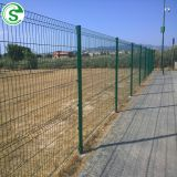 6ft Green PVC Coated Wire Mesh Panels Wire Fencing