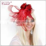fashion red big showgirl feather carnival headdress