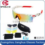 Latest design mirror lens mens protective riding eyewear sport glasses with multiple lenses