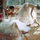 favourable price hot sell beautiful girl's ballet oil painting for home decoration