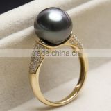 black pearl ring 14k gold jewelry wholesale                                                                         Quality Choice
