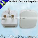 PC ABS industry waterproof 13a 250v ac power plug adapter
