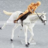 Custom Plastic Race Horse toy OEM Plastic Animal Figurines Horse