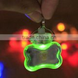 Cute Pet Safety Flashing Dog Led Pendant Bone Collar Blinking Glow Light Pendant Tag For Dogs Puppy Cats newly design