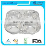 aluminum foil food container round muffin cup egg tart tray disposable cup/aluminum foil muffin pan