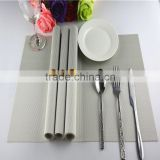 grey white Mix Color grid background Insulation PVC Coffee Coaster Mat Placemats Plaid Pad Dining Table Desk