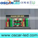 Indoor/outdoor Basketball game score led screen with Nova ultra score software and referee console