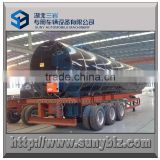 3 axle cylinder shape insulation flue heating bitumen tanker semi trailer 46000 L, 46 m3, 46 cbm