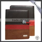 REYON leather portfolio with power bank ,card slots, pen holder tablet PC case