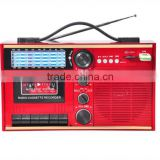 New Arrival Classic Radio Cassette with SD MMC Card Wooden Radio Cassette Player