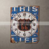 Oblong shabby chic wall clock made of wood                                                                         Quality Choice