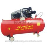 LeHua industrial electric single stage three pase belt driven air compressor with 5.5kw 7.5hp motor