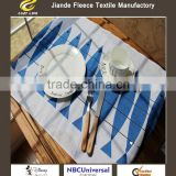 1PCS 64x45cm Modern Mediterranean Blue Fish Print Linen Cotton Table Placemat Napkin Bar Coffee Tea Towel Photo Prop