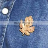 Hair jewelry metal maple leaf wedding brooches