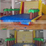Popular giant size trilling high quality outdoor inflatable climbing sports trampolines game on hot sale