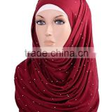 hot wholesale rhinestones print hijab scarf