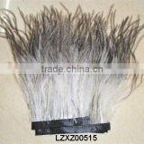 natural Ostrich Feather trim for garment dress LZXZ00515