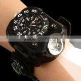Wrist lamp, charging a watch, compass, outdoor sports night riding, 3 w light flashlight