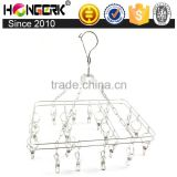 stainless steel hanging underwear and sock hanger with clips                                                                         Quality Choice