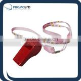 Red plastic football whistle in bulk