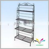 Service Advertising Equipment Wire Flooring Powder Coated Supermarket Display Shelf