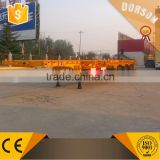 widely used 3 axle 40ft flatbed container semi trailer /40ft skeleton container semi-trailer