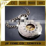 vintage Wholesale pocket watch chains custome roman numerals bronze quartz pocket watch pendant necklace chian gift