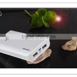 High capacity of 8400mAh power bank with LED