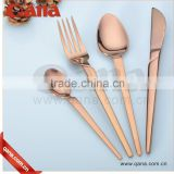 Qana Hot sale rose gold cutlery set gold plated cutlery                                                                         Quality Choice