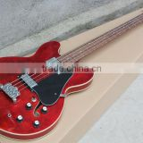 Rebon ES335 jazz hollowbody electric bass guitar