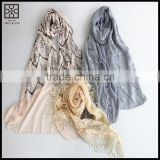 2015 New Design Light Weight Lady Cheap Scarf for Spring and Summer