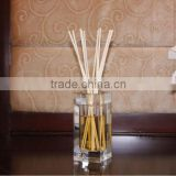 name brand scents 80ml Luxury high quality square crystal glass decorative reed difuser