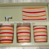 Customize logo ceramic bathroom accessories set with full hanpainted                                                                         Quality Choice