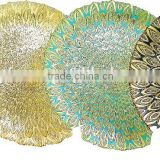 Wholesale Glass charger plate in gold Color Painted and silver plating for wedding , cheap price