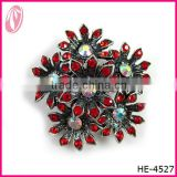 Chinese Wedding Accessories Red Rubine Brooch For Bridal Dress