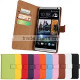Luxury Magnetic Wallet Credit Card Stand Leather Case For HTC One Max T6/For HTC Desire 816