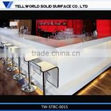 TW High Quality Waterproof artificial stone Bar Counter Design/ kitchen bar counter designs