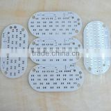 2 layer aluminum pcb bare board for led light 1.6 mm board thickness white soder mask