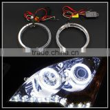 DC 12V 5W led halo rings light 100mm 3 inch cre e led angel eyes head lamp light led day time driving light white blue led rings