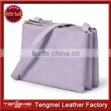 New Fashion Designer Purple Genuine Leather Women Handbag Ladies Nice Small Bags