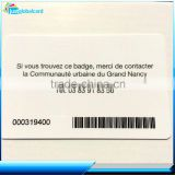 China manufacture CR80 Standard Size Printed Serial Numbers barcode magnetic strip dual interface card