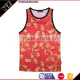 Custom sublimation printing Tank Top Men's Vest Customized Printing Service Bulk Wholesale Clothing China Manufacturer Direct