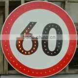 Solar speed limited traffic sign